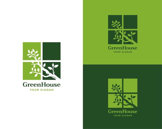 Groen huis raam logo merk: