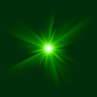 Groen kleurontwerp met een burst. bestand opgenomen