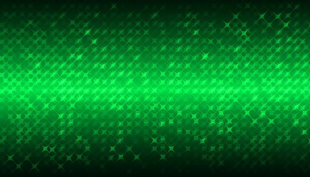 Groen led-bioscoopscherm voor filmpresentatie. lichte abstracte technische achtergrond