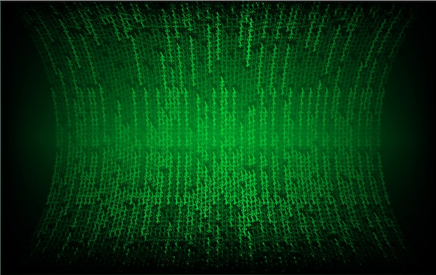 Groen led-bioscoopscherm voor filmpresentatie.