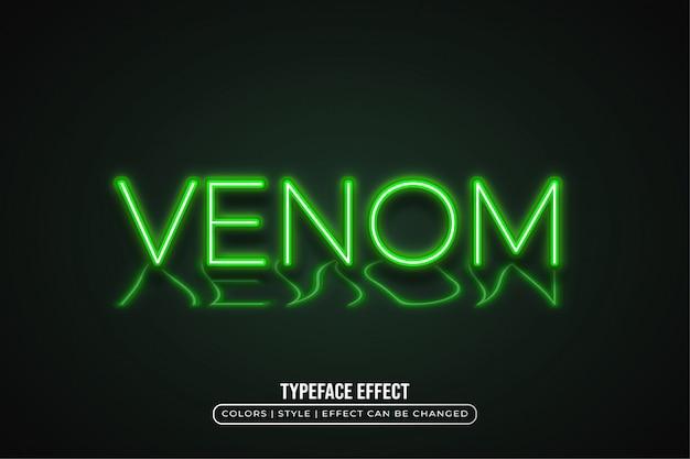 Groen licht tekststijl met reflectie-effect