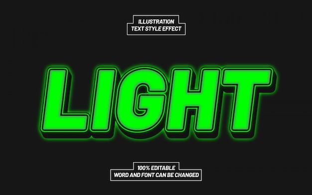 Groen licht tekststijleffect