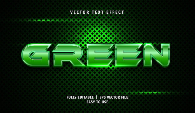 Groen metallic teksteffect, bewerkbare tekststijl