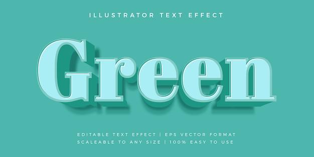 Groen monotoon tekststijl lettertype-effect