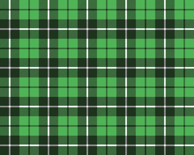 Groen naadloos de textuurpatroon van de geruit schots wollen stofstof