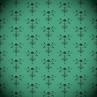 Groen naadloos klassiek patroon