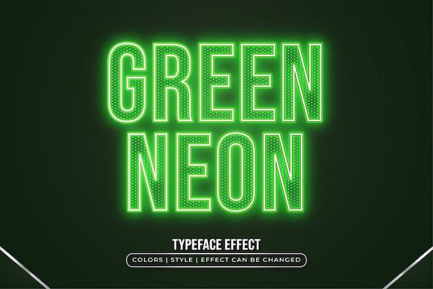 Groen neon tekststijleffect
