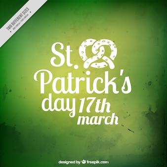 Groen patrick's day aquarel achtergrond