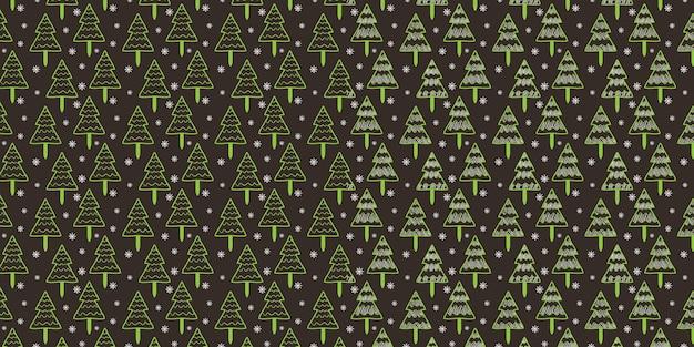Groen pine tree sneeuwvlok patroon voor achtergrond wallpaper textuur
