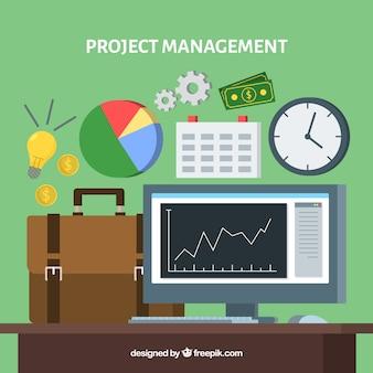 Groen projectmanagementconcept
