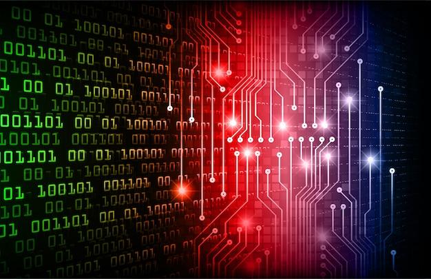 Groen rood blauw cyber circuit toekomstige technologie concept achtergrond