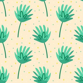 Groen schattig blad. flora designelementen. wild leven, natuur. palmboom bladeren.