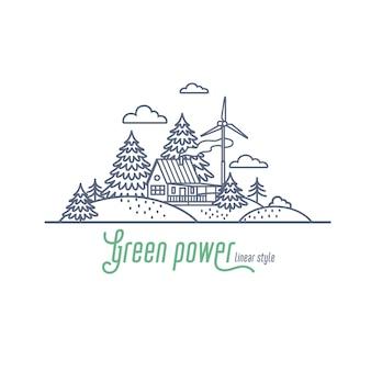 Groen stroomconcept