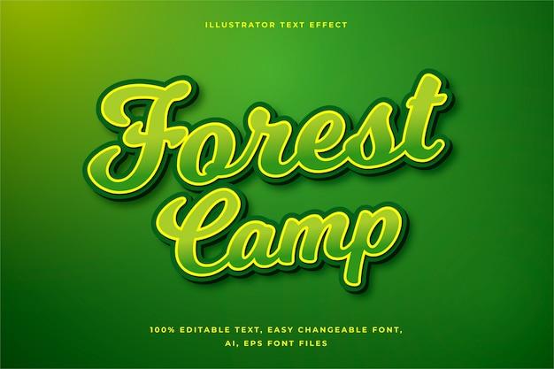 Groen teksteffect concept