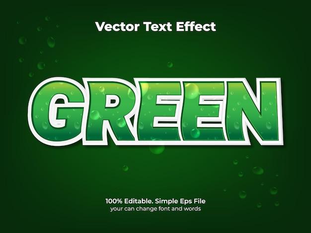 Groen vergif teksteffect