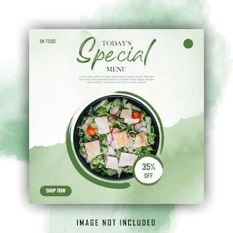 Groen water kleur eenvoudige social media post