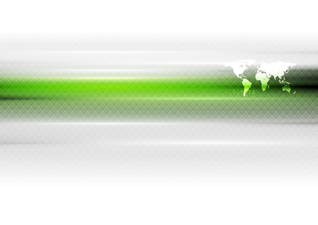 Groen witte hi-tech abstracte achtergrond met wereldkaart. vectorkunstontwerp