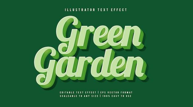 Groen zacht handgeschreven tekststijl lettertype-effect