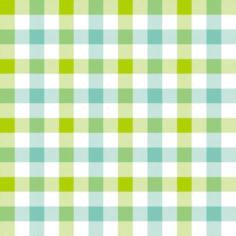 Groenachtig blauw geruit tafelkleed naadloos patroon