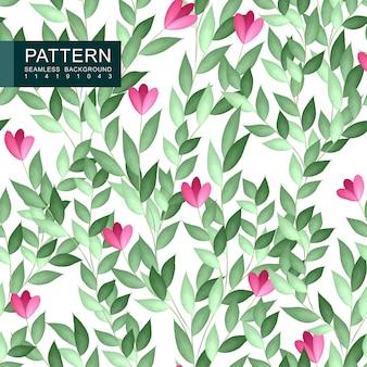 Groenachtig bloemen naadloos patroon