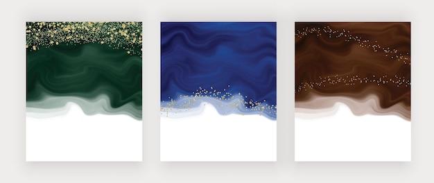 Groenblauwe en bruine waterverftextuur