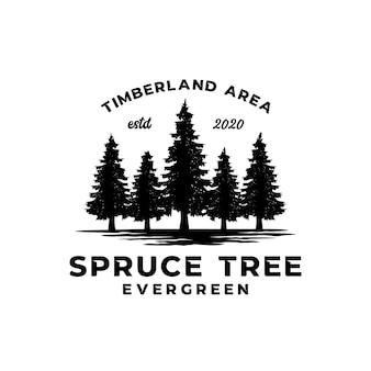 Groenblijvende sparren boom logo