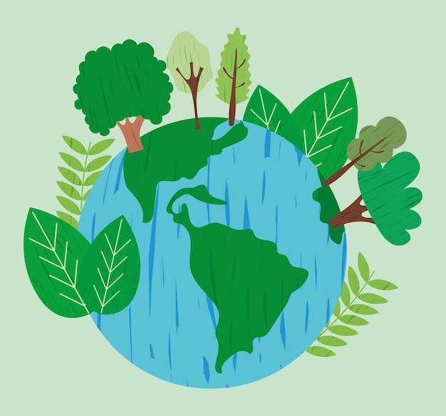 Groene aarde planeet