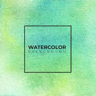 Groene abstracte aquarel achtergrond, hand verf.