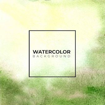 Groene abstracte aquarel blad ornamenten, hand verf. kleur spatten op het witte papier