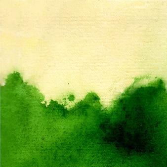 Groene abstracte aquarel textuur hand verf. kleur spatten op het witte papier