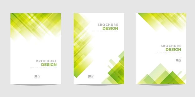 Groene abstracte brochure set