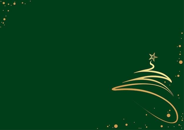 Groene abstracte kerstboomachtergrond