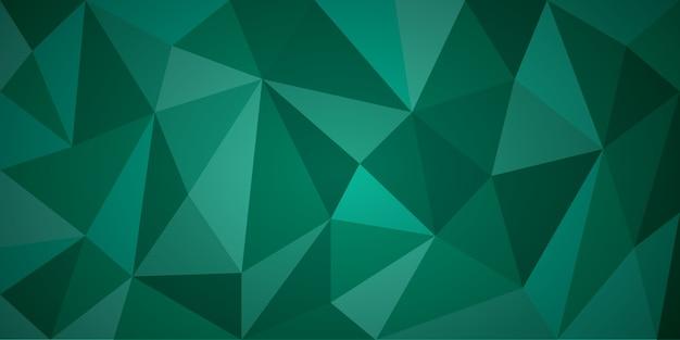 Groene abstracte veelhoek achtergrond