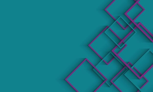 Groene achtergrond met groene en paarse vectorlay-out met overlappende rechthoeken