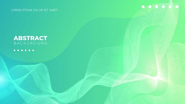 Groene achtergrond met kleurovergang met abstracte lijnen