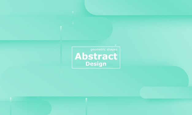 Groene achtergrond. vloeiende vormen. minimale abstracte omslag
