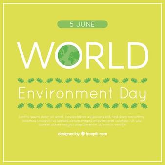 Groene achtergrond voor dag wereld milieu