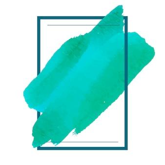 Groene aquarel banner ontwerp vector