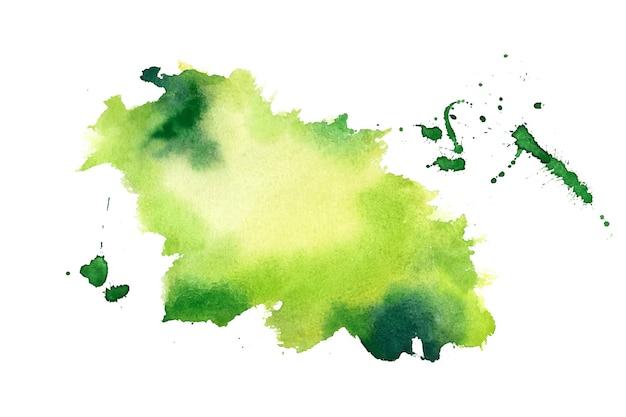 Groene aquarel splash vlek textuur achtergrond