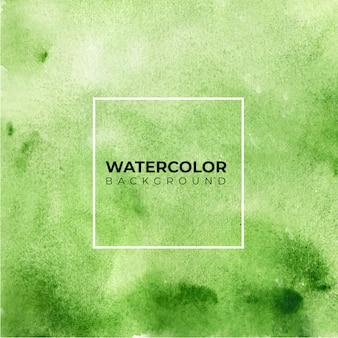 Groene aquarel textuur achtergrond, hand verf.
