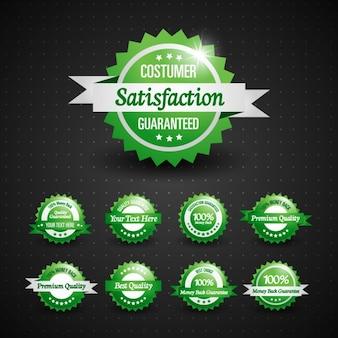 Groene badges collectie