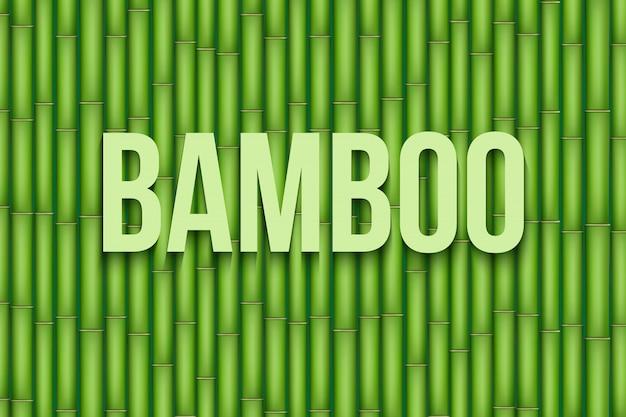 Groene bamboe in plat design