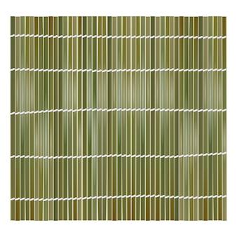 Groene bamboe mat achtergrond voor het maken van sushi. bovenaanzicht. realistische textuur makisu of gordijn.