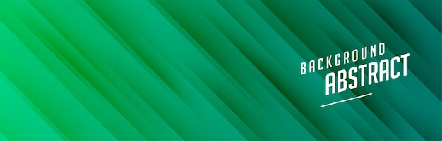 Groene banner met ontwerp met diagonale lijnen