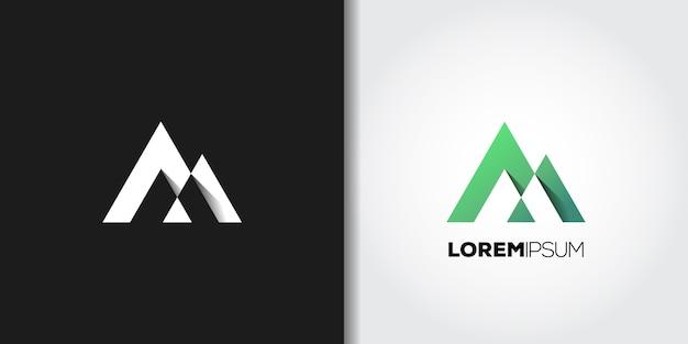 Groene berg logo set