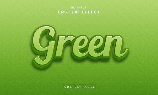 Groene bewerkbare 3d-teksteffect premium vector