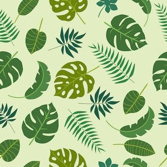 Groene bladeren tropics bloemmotief
