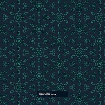 Groene bloem patroon op een donkere achtergrond