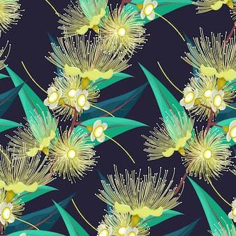 Groene bloem vector kleurensjabloon