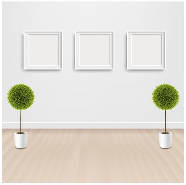 Groene bloemen met en fotolijst
